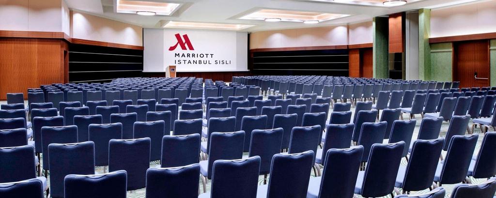 Grand ballroom in Istanbul hotel