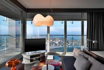 Residential Bosphorus Suite with separate living room and panaromic Bosphorus and Istanbul views