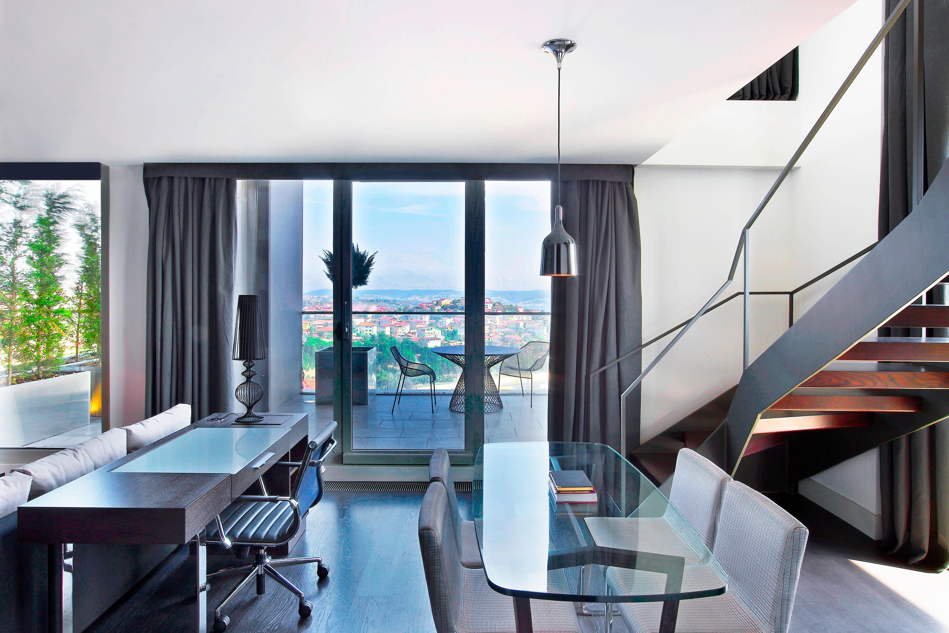 Loft Suite has a living and working area in its first floor