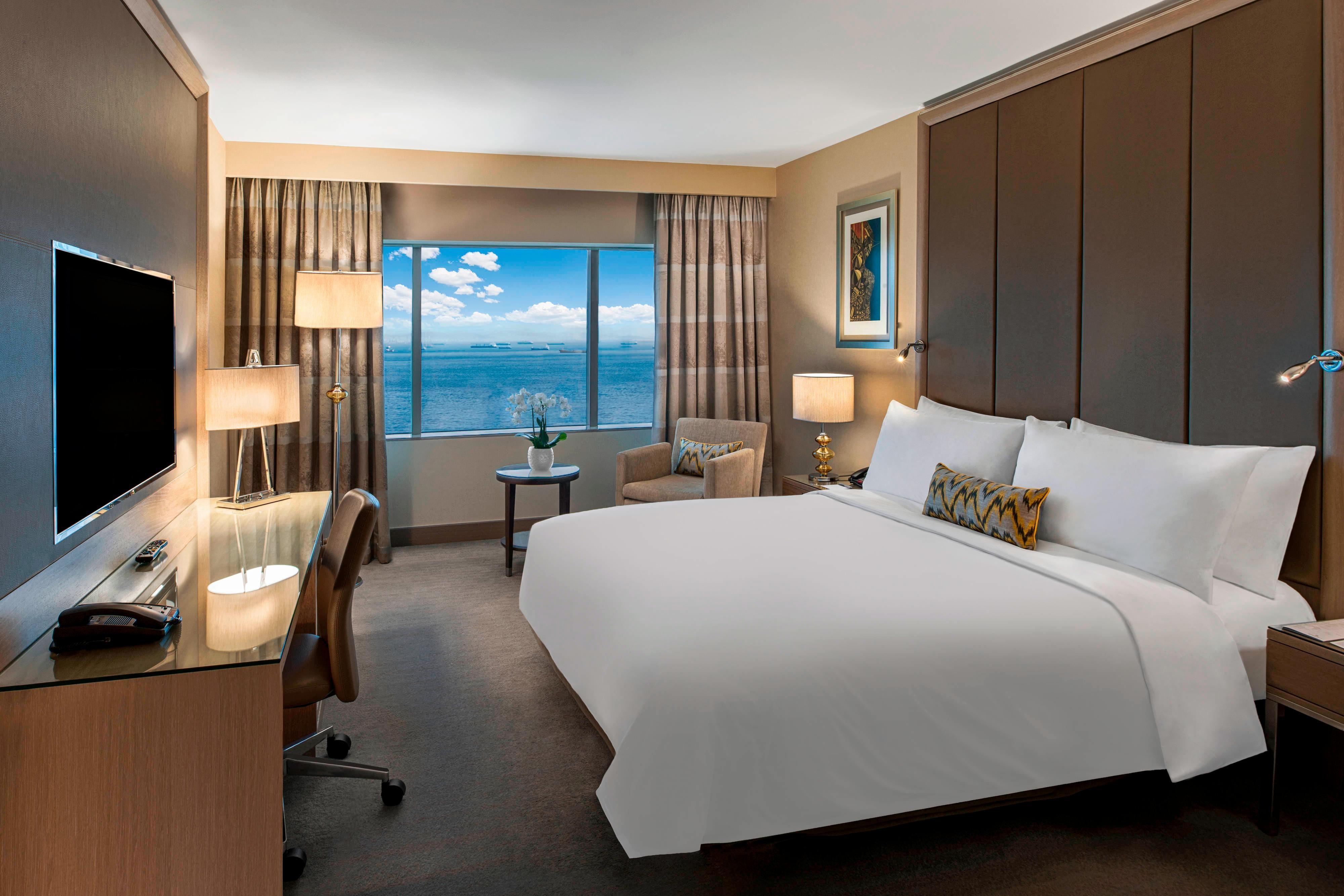 Chambre haut de gamme avec lit double-vue sur la mer