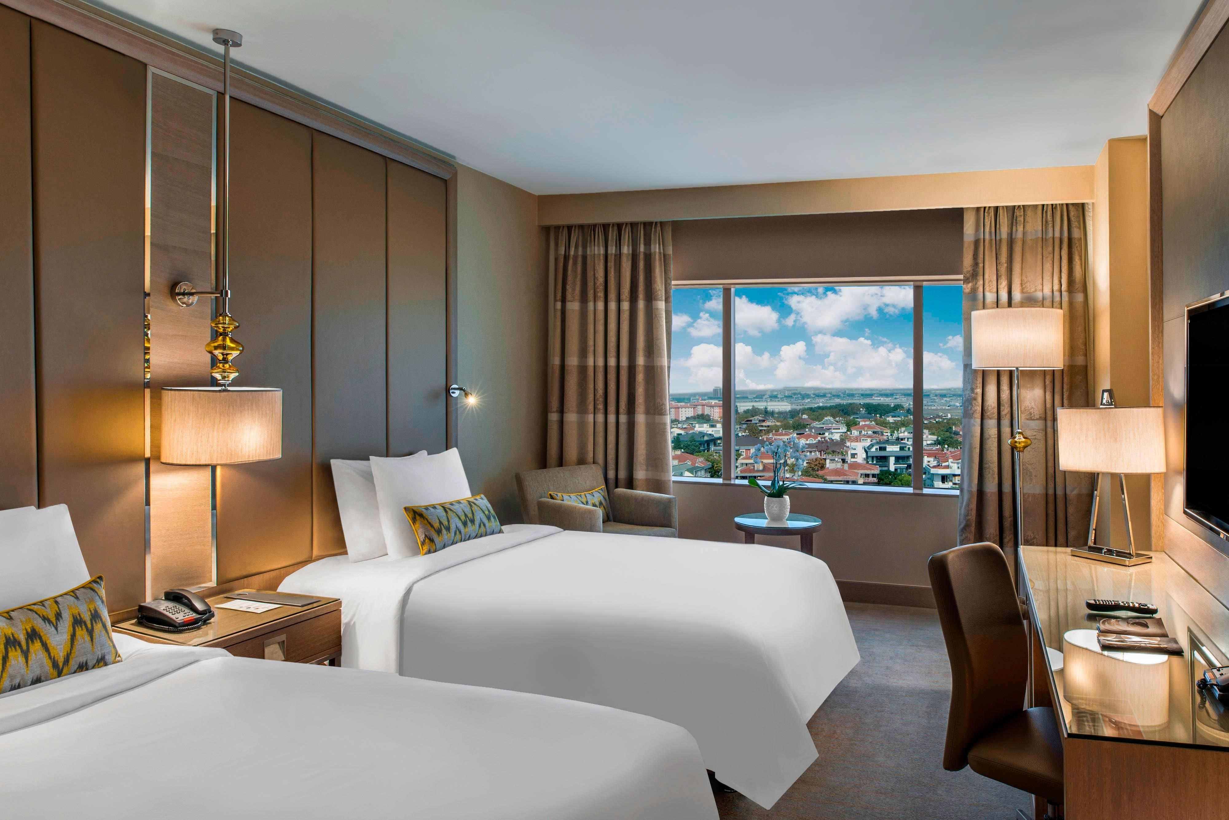 Chambre haut de gamme avec lit simple-vue sur la ville
