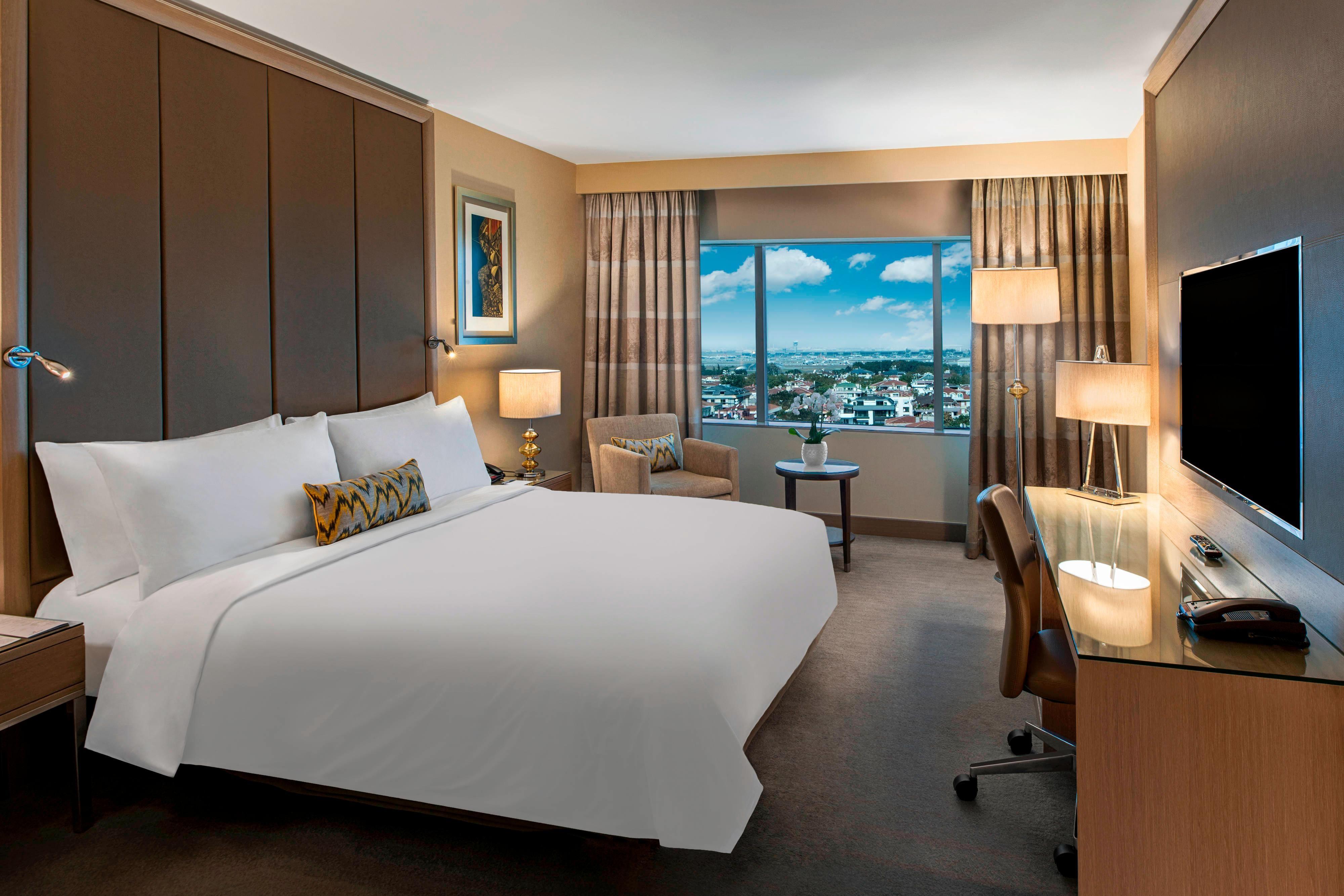 Chambre haut de gamme avec lit double-vue sur la ville