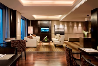 Executive lounge in Chandigarh hotel