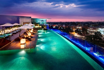 Chandigarh hotel rooftop pool