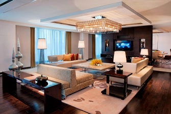 Chandigarh presedential suite living area