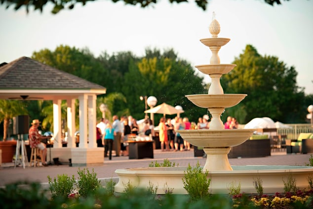 St Augustine outdoor reception space