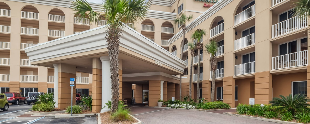 Courtyard Jacksonville Beach Oceanfront Entrance Hotel Suite