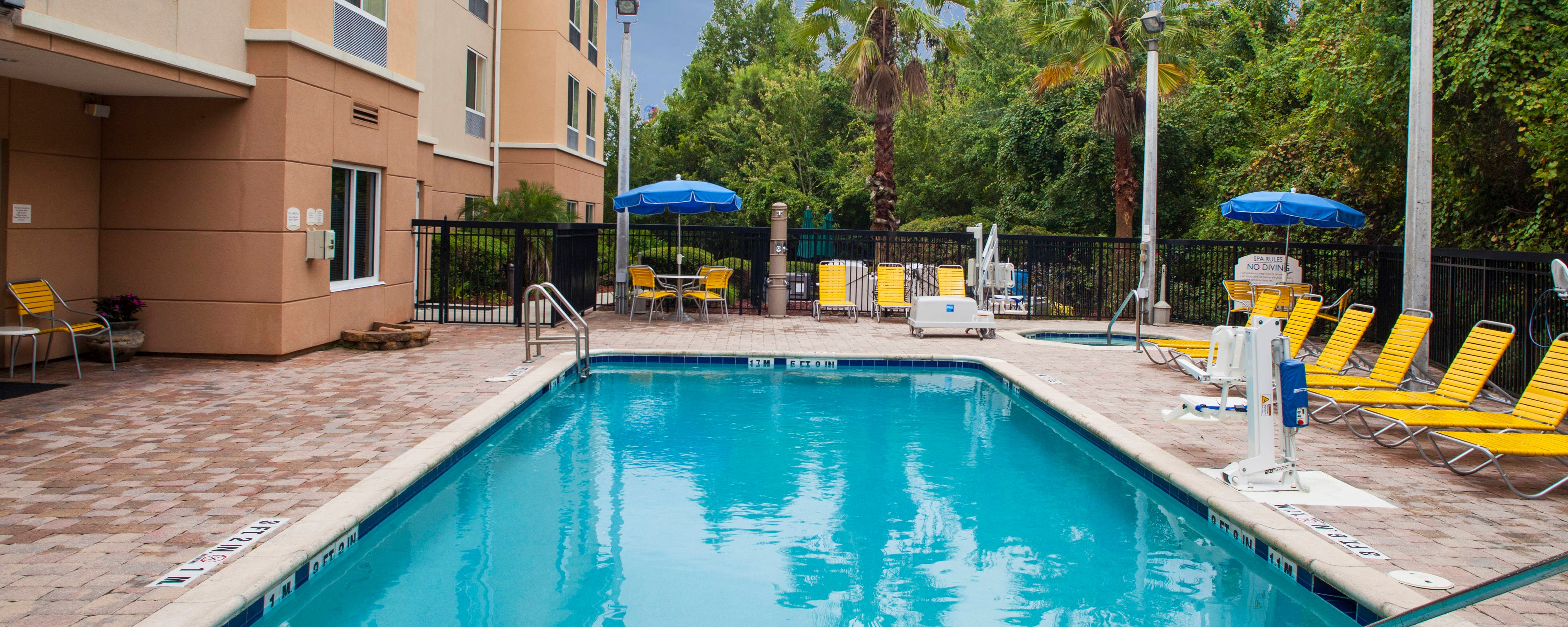 Outdoor Pool at the Fairfield Inn St Augustine Hotel