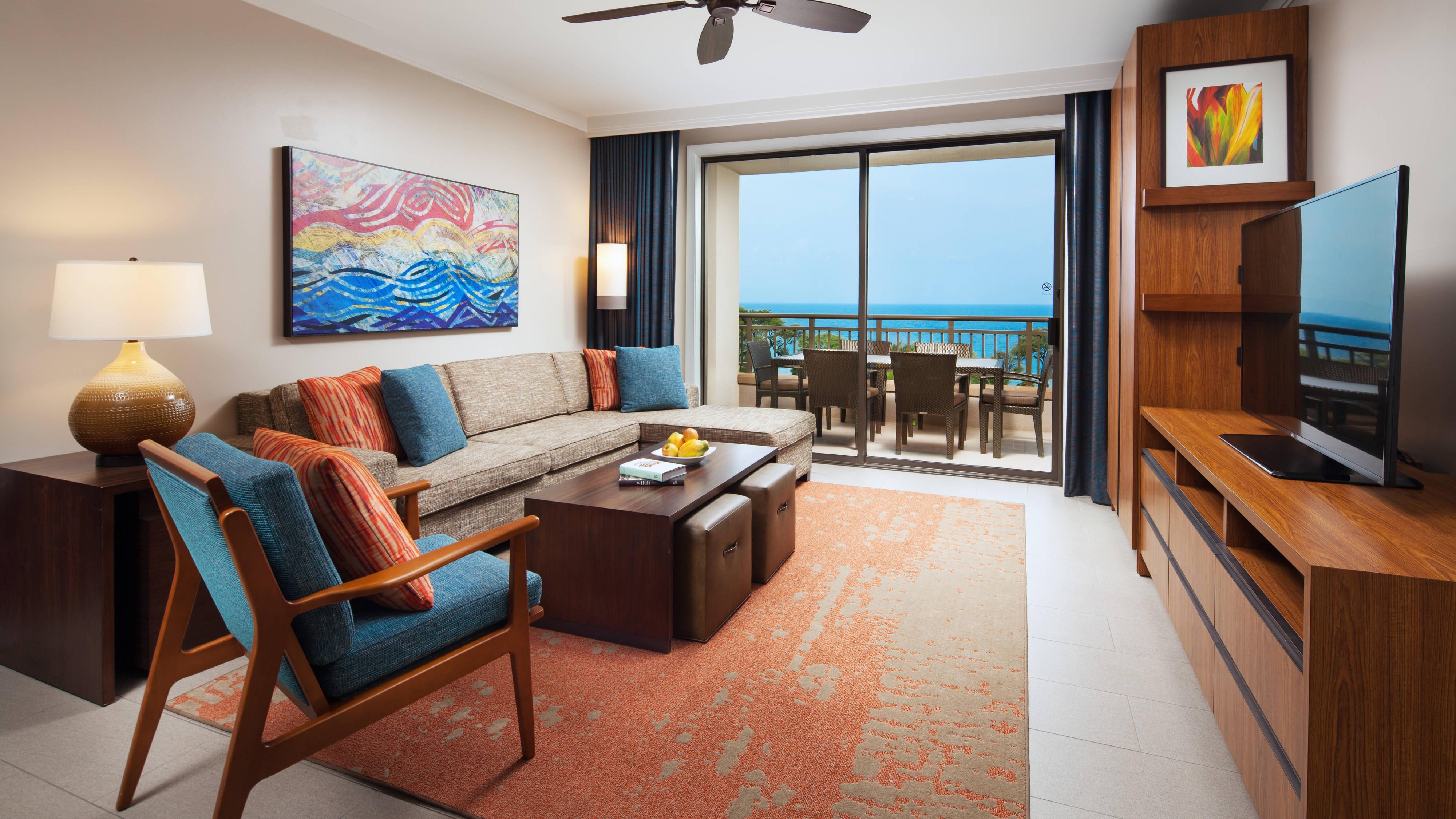 Ocean View Villa Living Room
