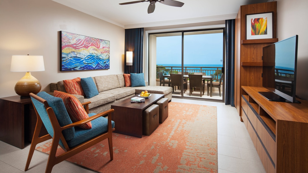 Ocean View Villa Living Room