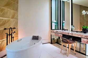 Executive Room Bathroom in elegant interior