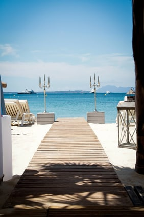 Antibes hotel with private beach