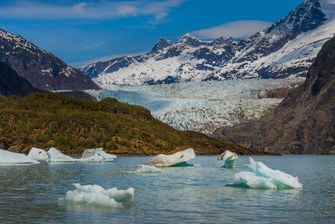 Ice Bergs in Mendenhall Lake