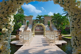 Wedding Blessing by The Outdoor Pool Gate