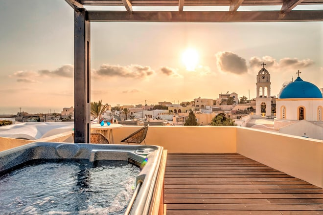 Aegean Suite Jacuzzi with stunning View