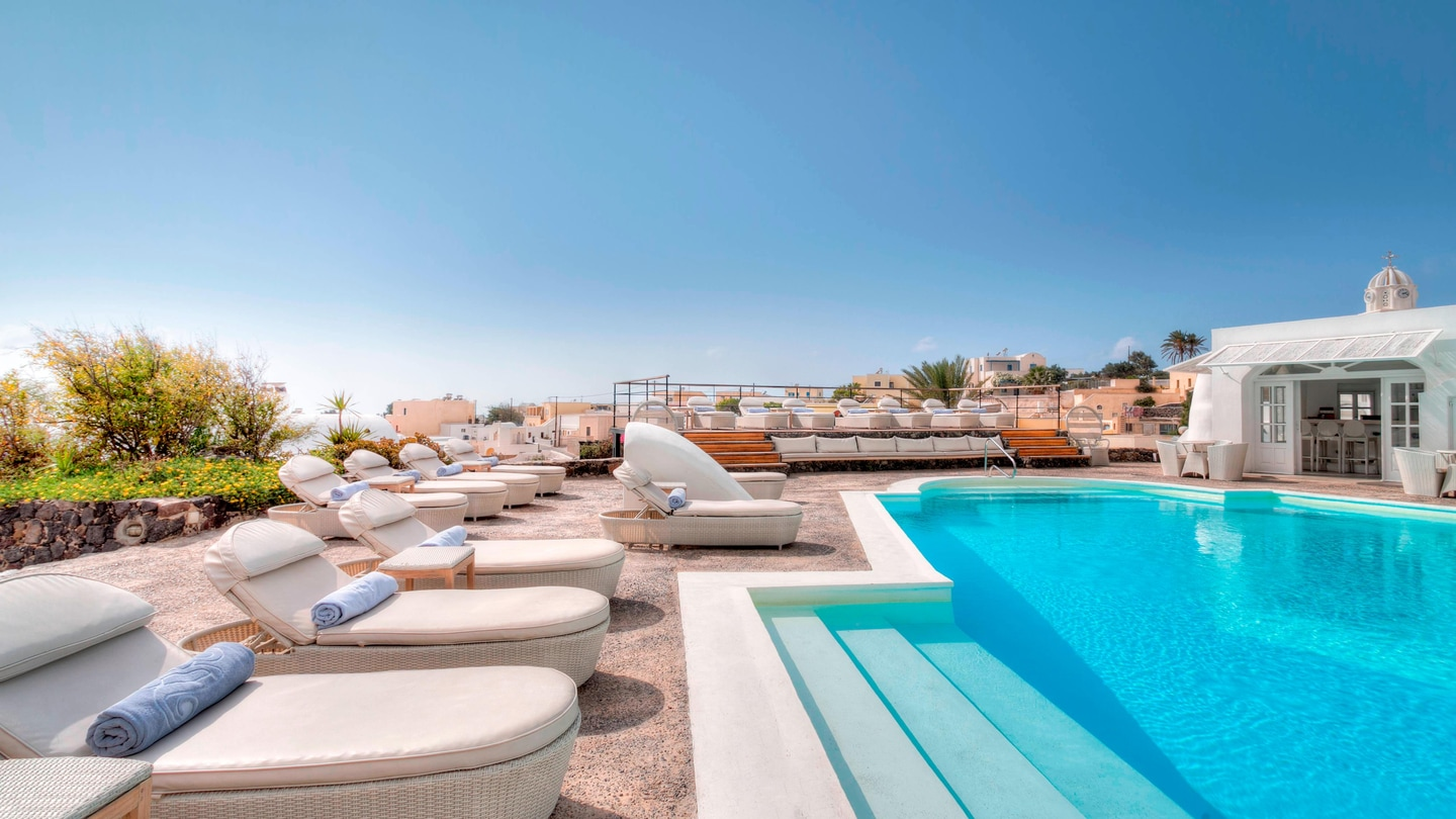 Sun Beds By The Pool