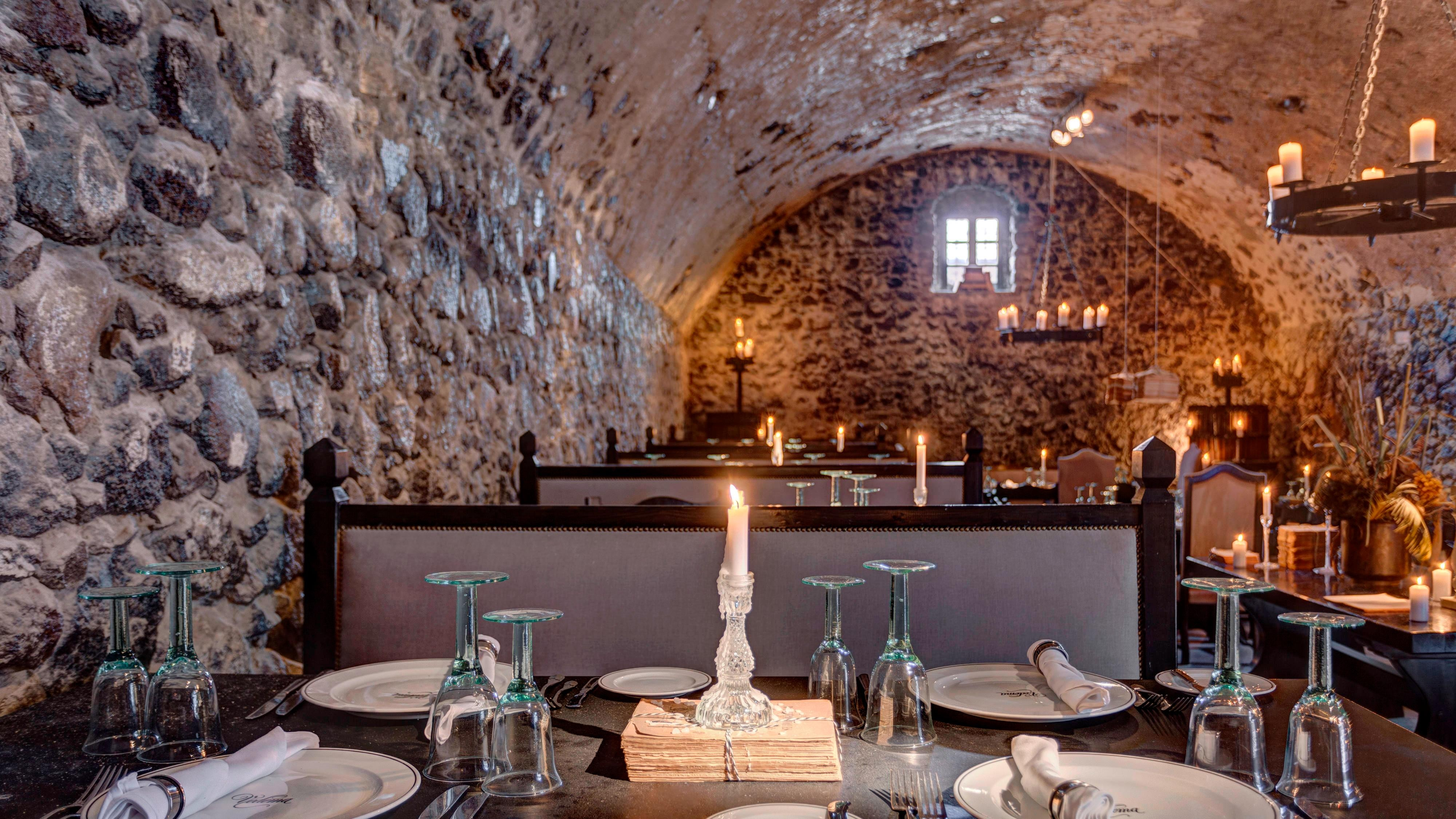 Alati Restaurant Interior in a 400 years old cave