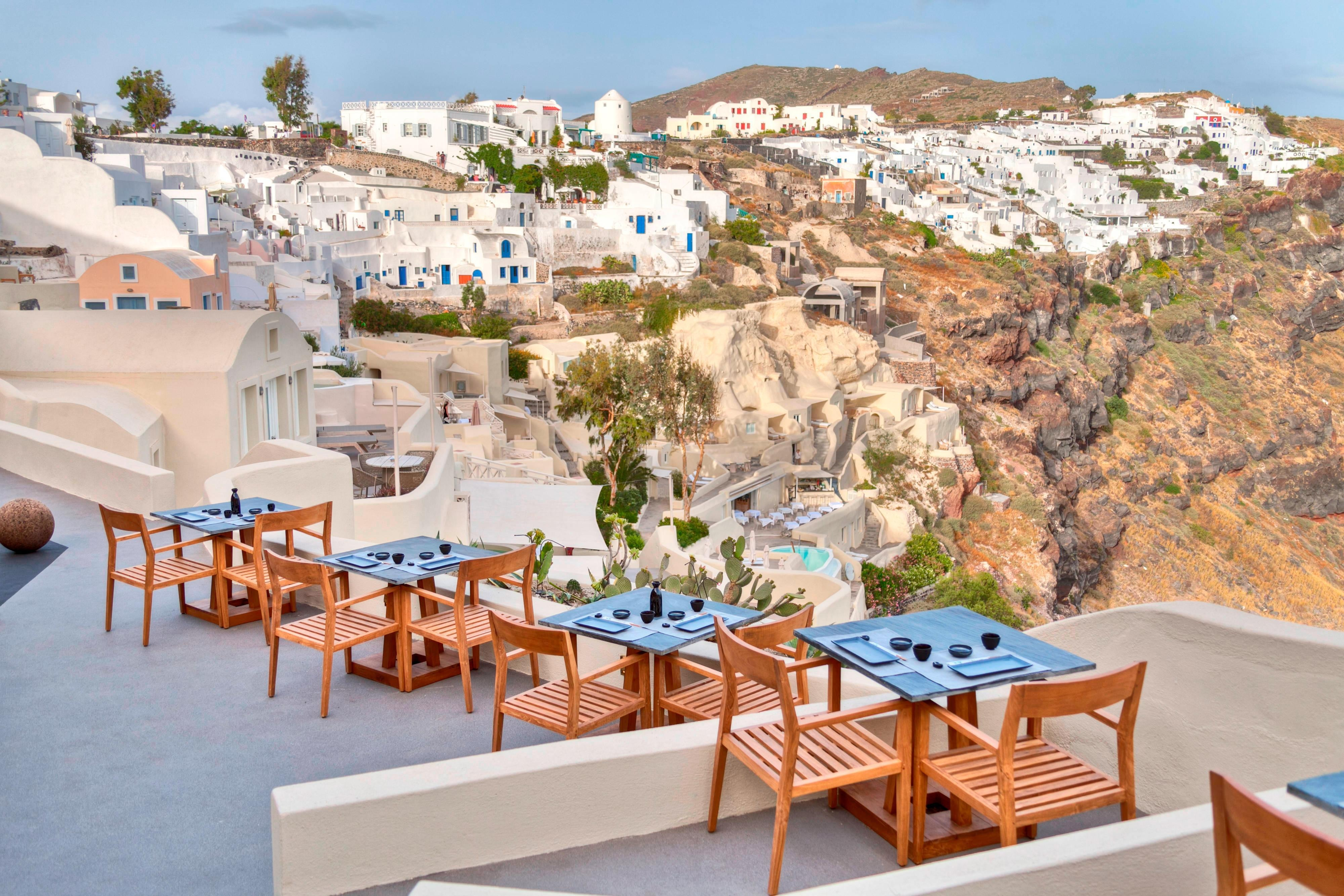 ASEA Restaurant Views to Fira