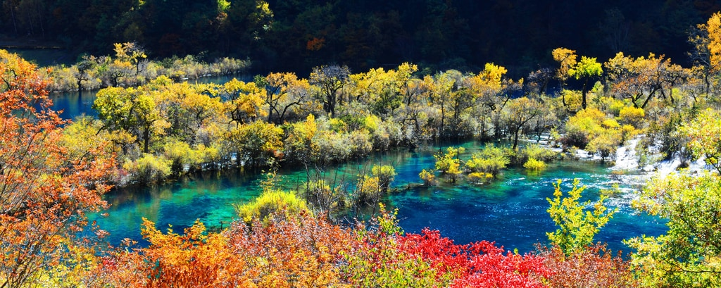 Jiuzhai Valley National Park Autumn
