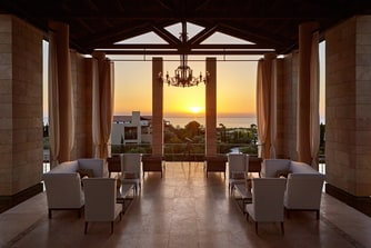 Open-air Lobby by Sunset