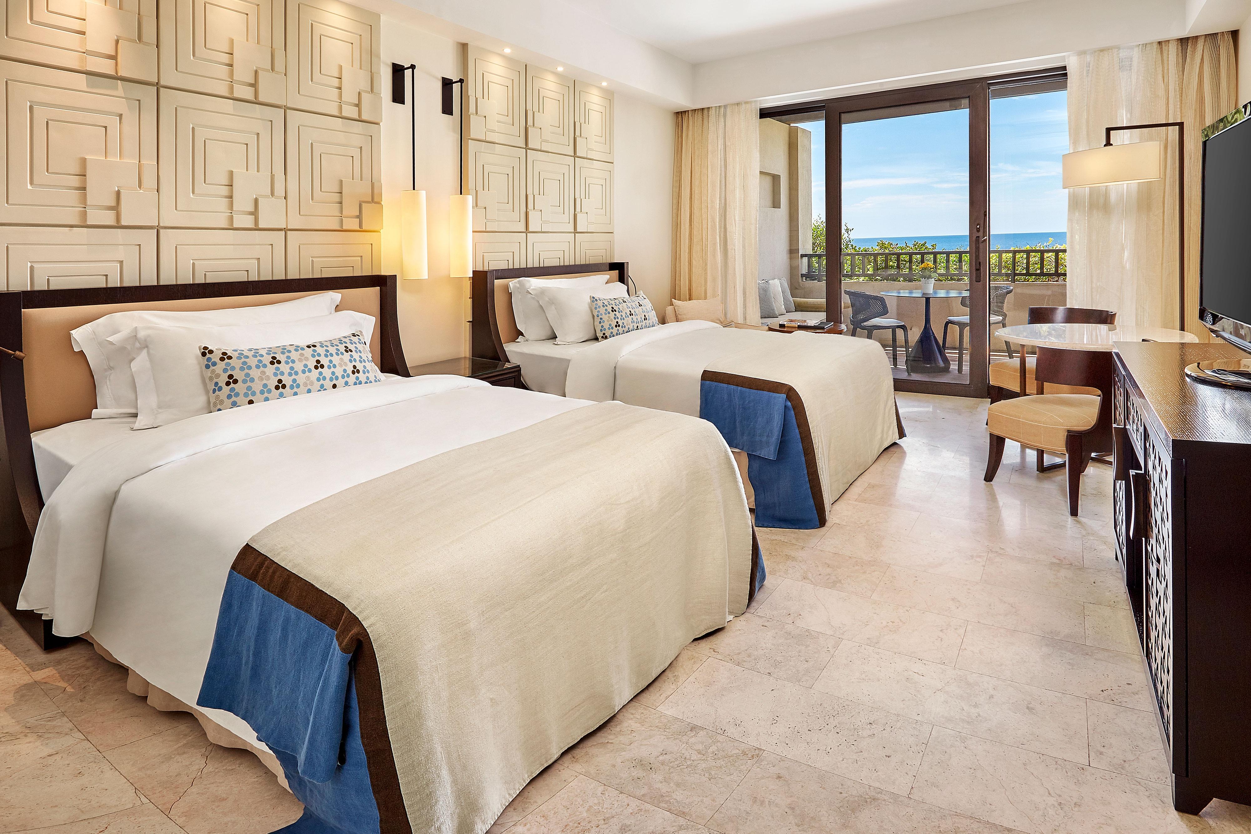 Премиальный делюкс с 2односпальными кроватями и видом на море