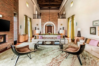 Living room of Royal Villa Methoni