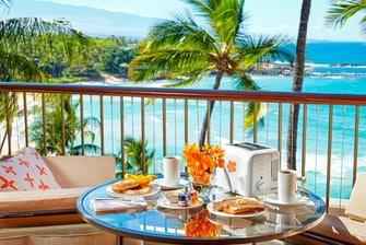 Lanai Balcony oceanview breakfast