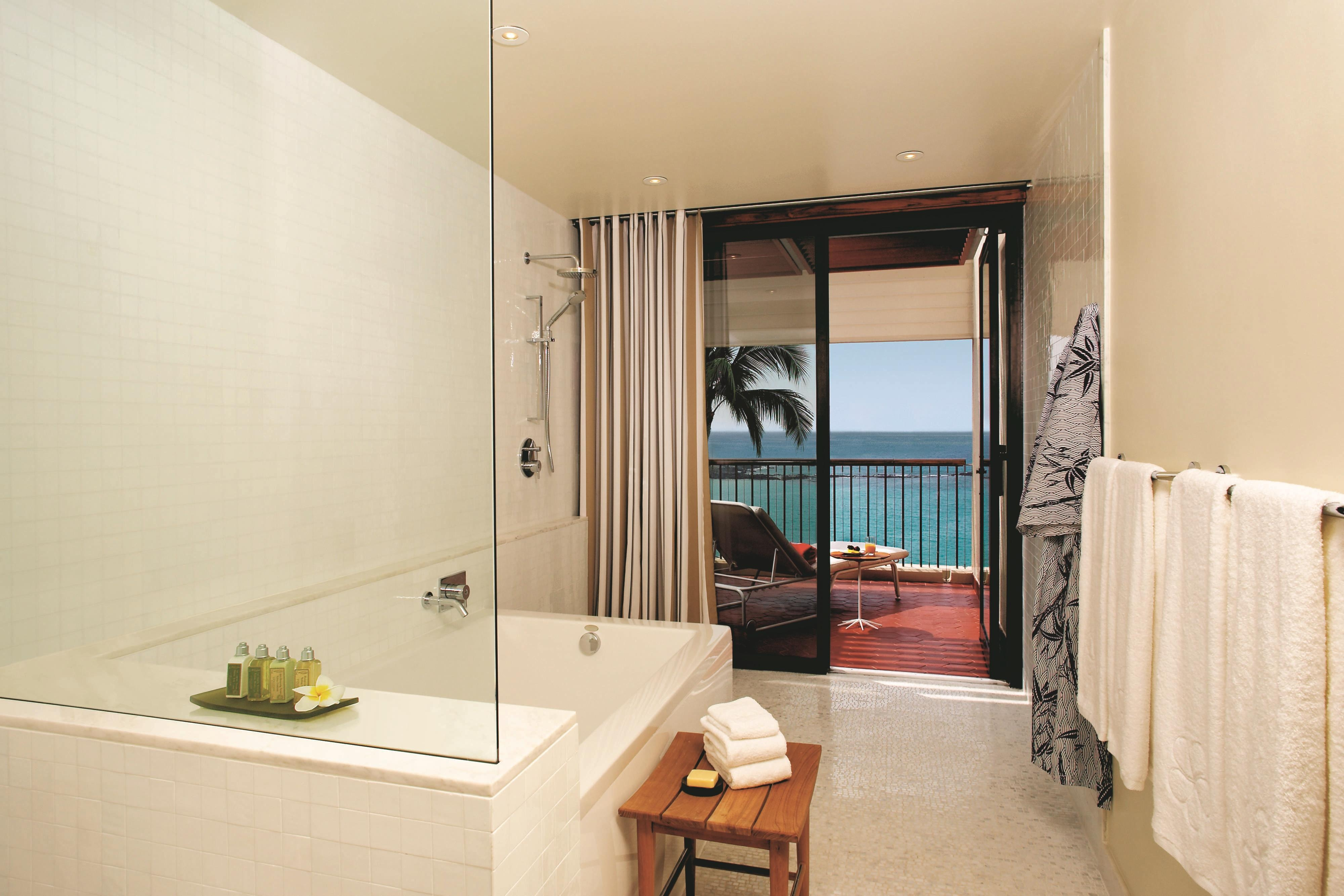 Deluxe Oceanfront Guest Bathroom