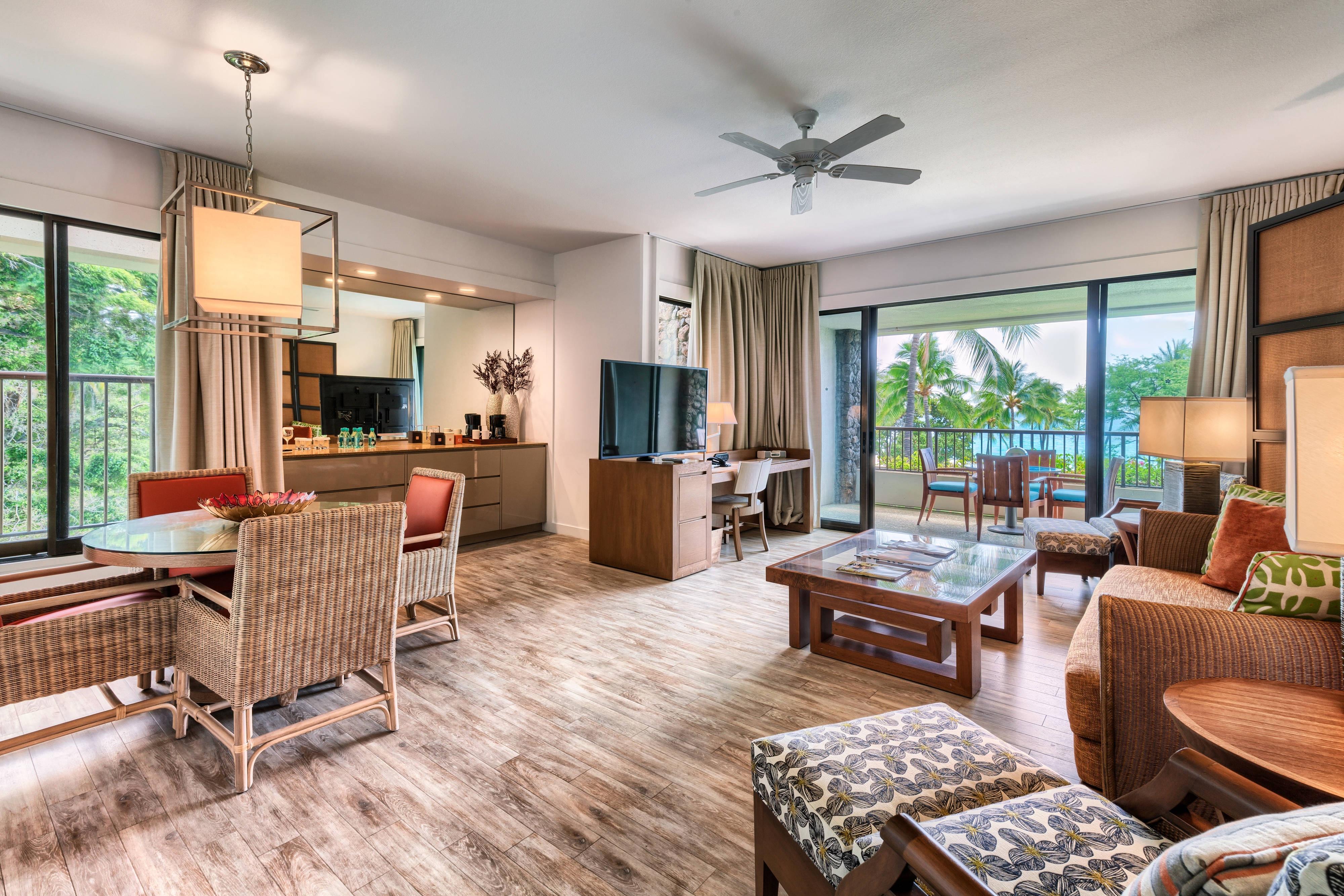 Deluxe Suite am Strand mit einem Schlafzimmer – Speisebereich