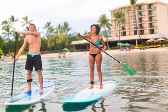 Paddle Boarding in the Bay
