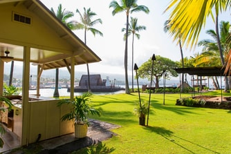 Event lawn at Kona hotel