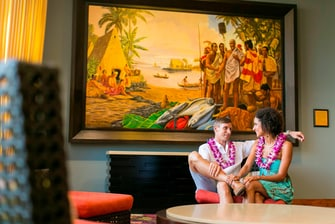 Herb Kane paintings Kona hotel