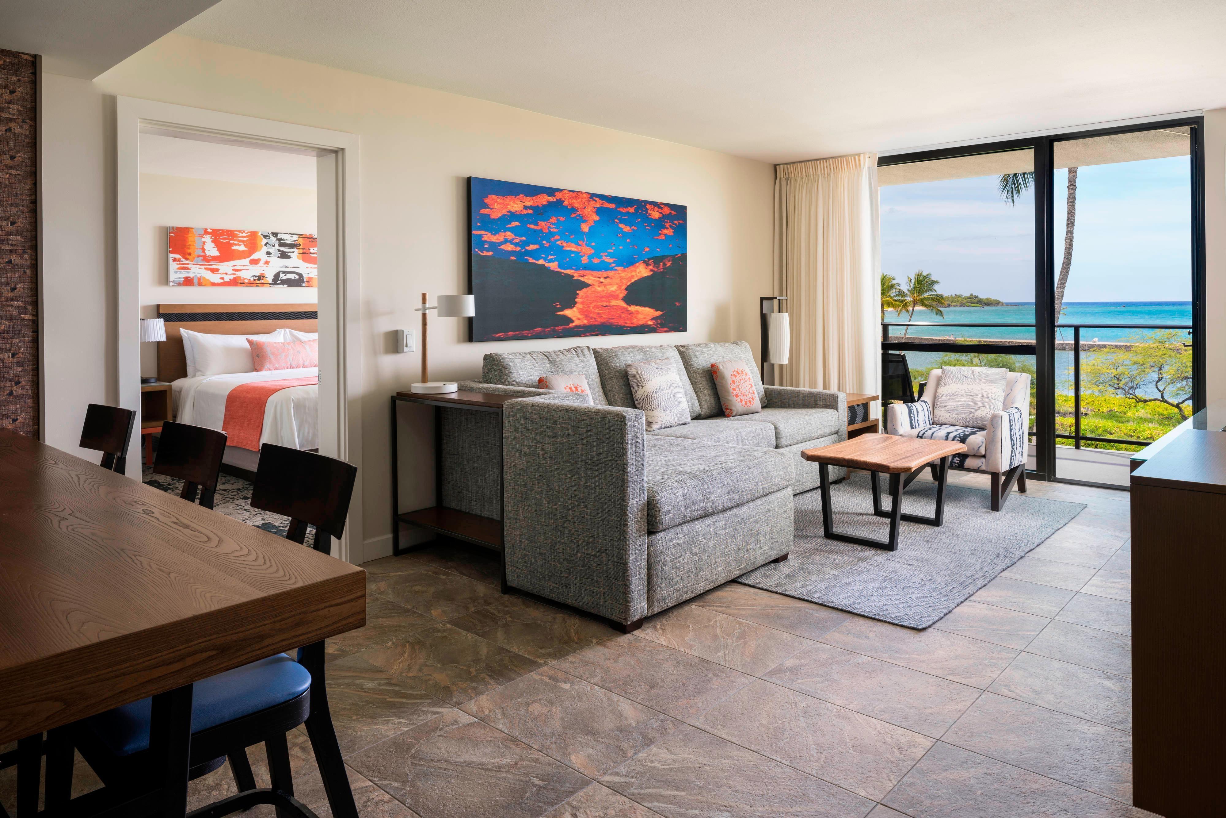 Two-Bedroom Oceanfront Suite - Living Area