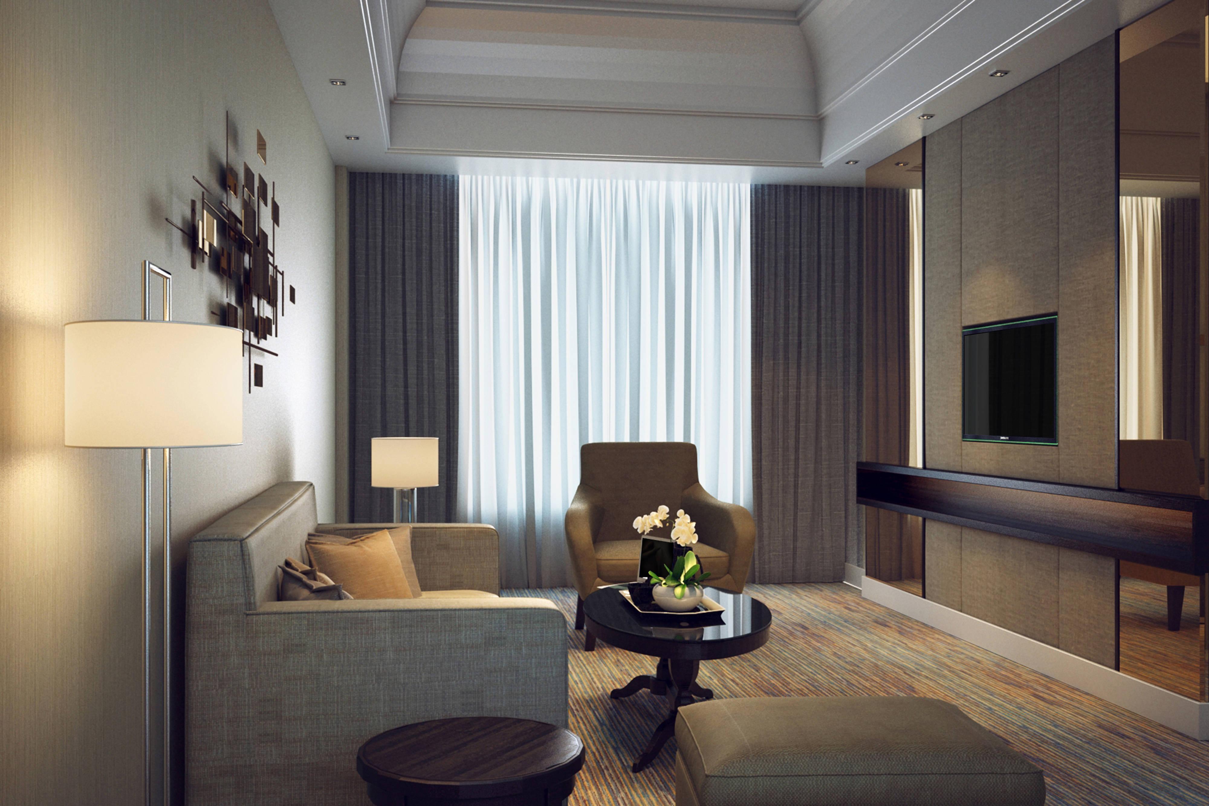 Suíte maior com dois quartos - Sala de estar