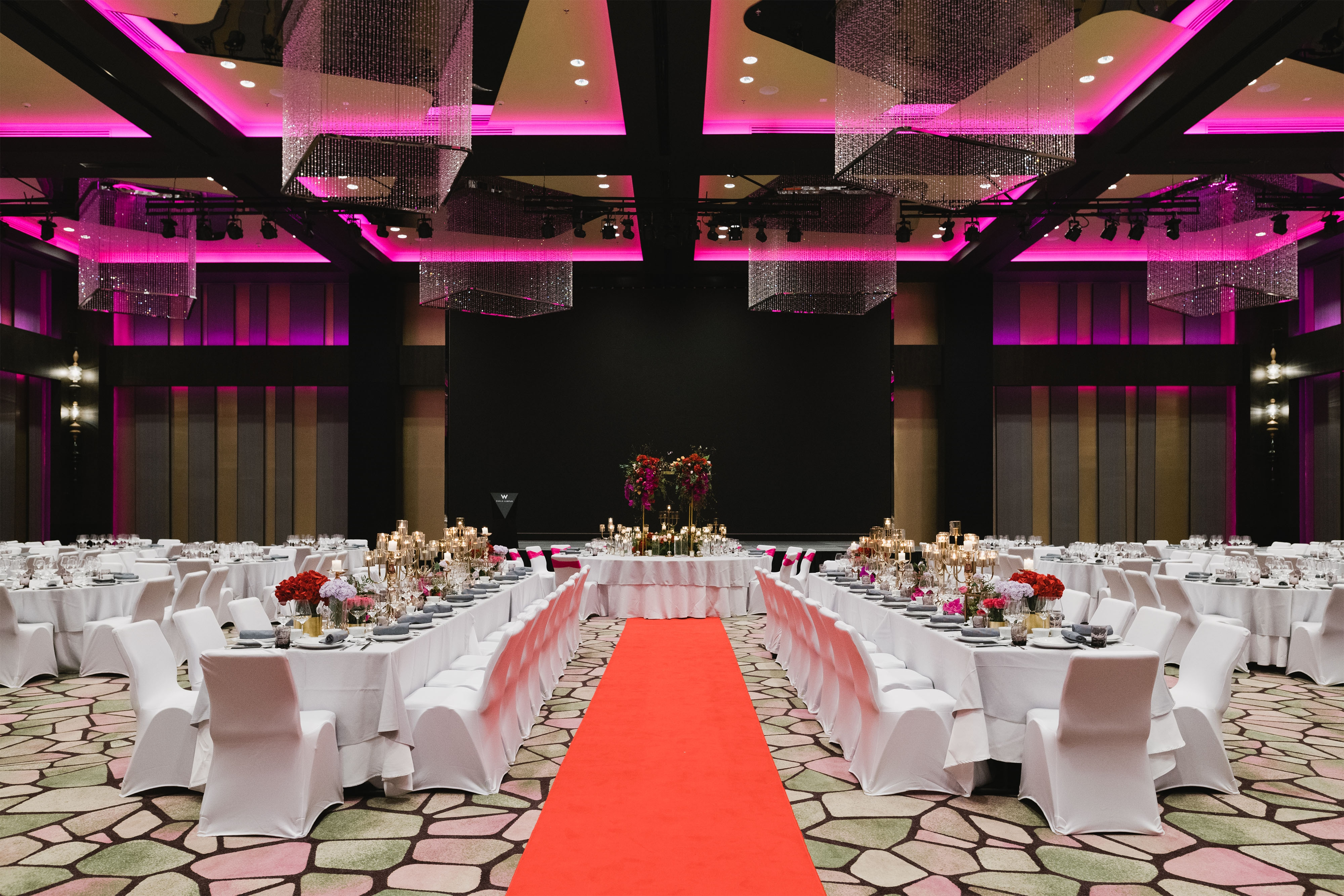 Great Room Wedding Reception Setup