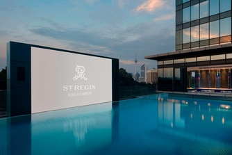Swimming Pool with LED Screen
