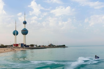 Water Sports near the Kuwait Towers