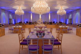 Crystal Ballroom Wedding Buffet Setup