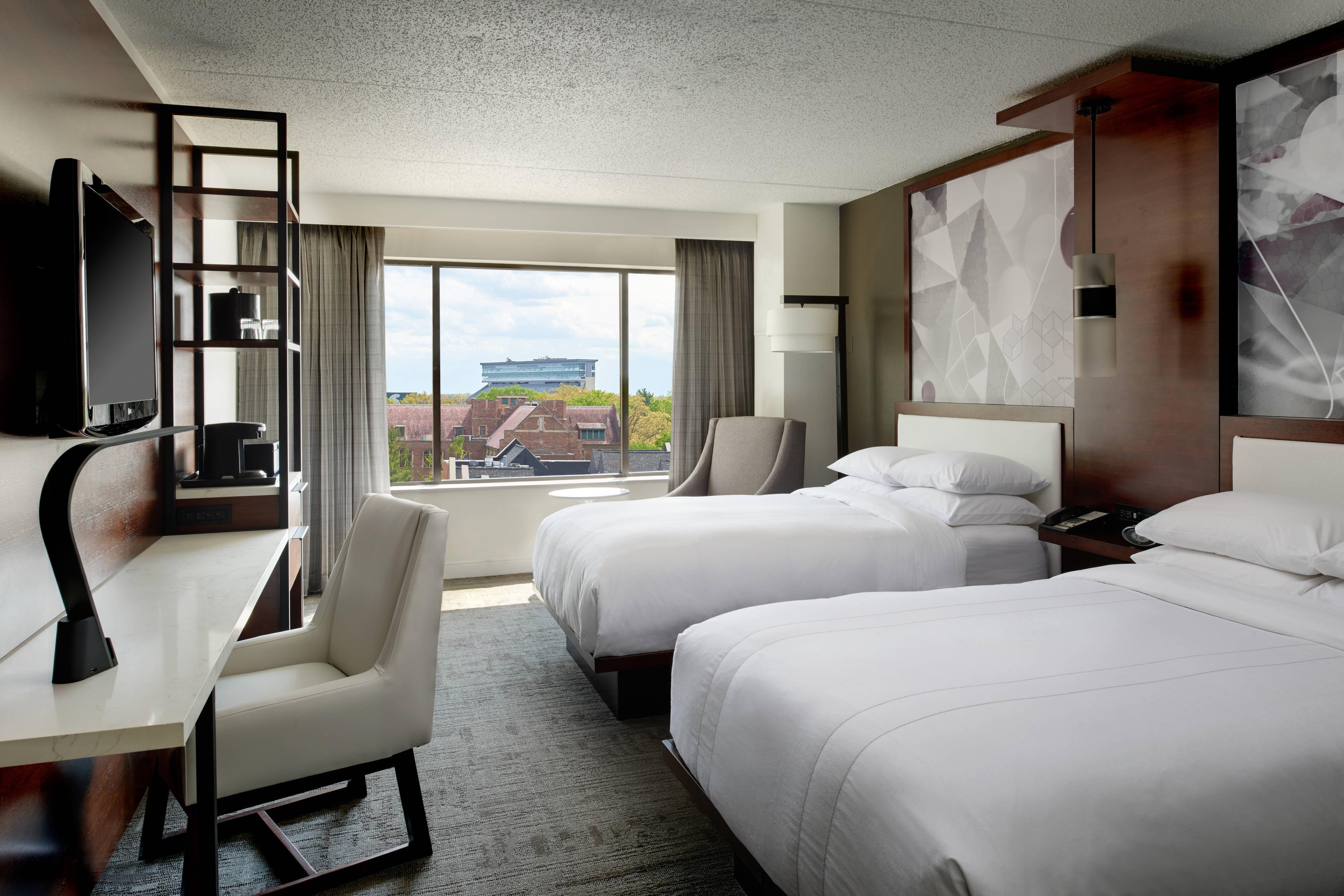 Chambre à deux lits doubles