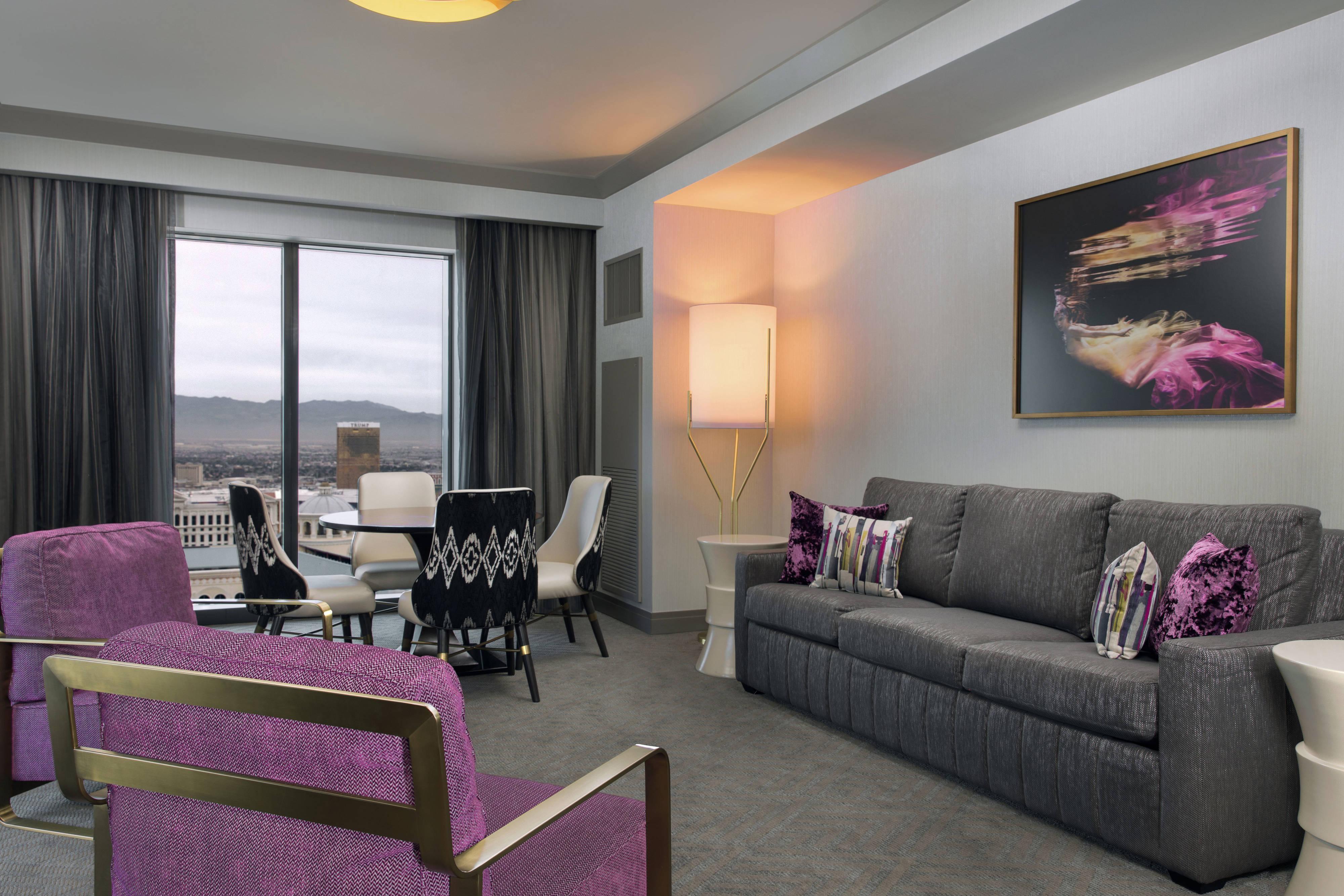 City Suite à deux chambres, espace salon