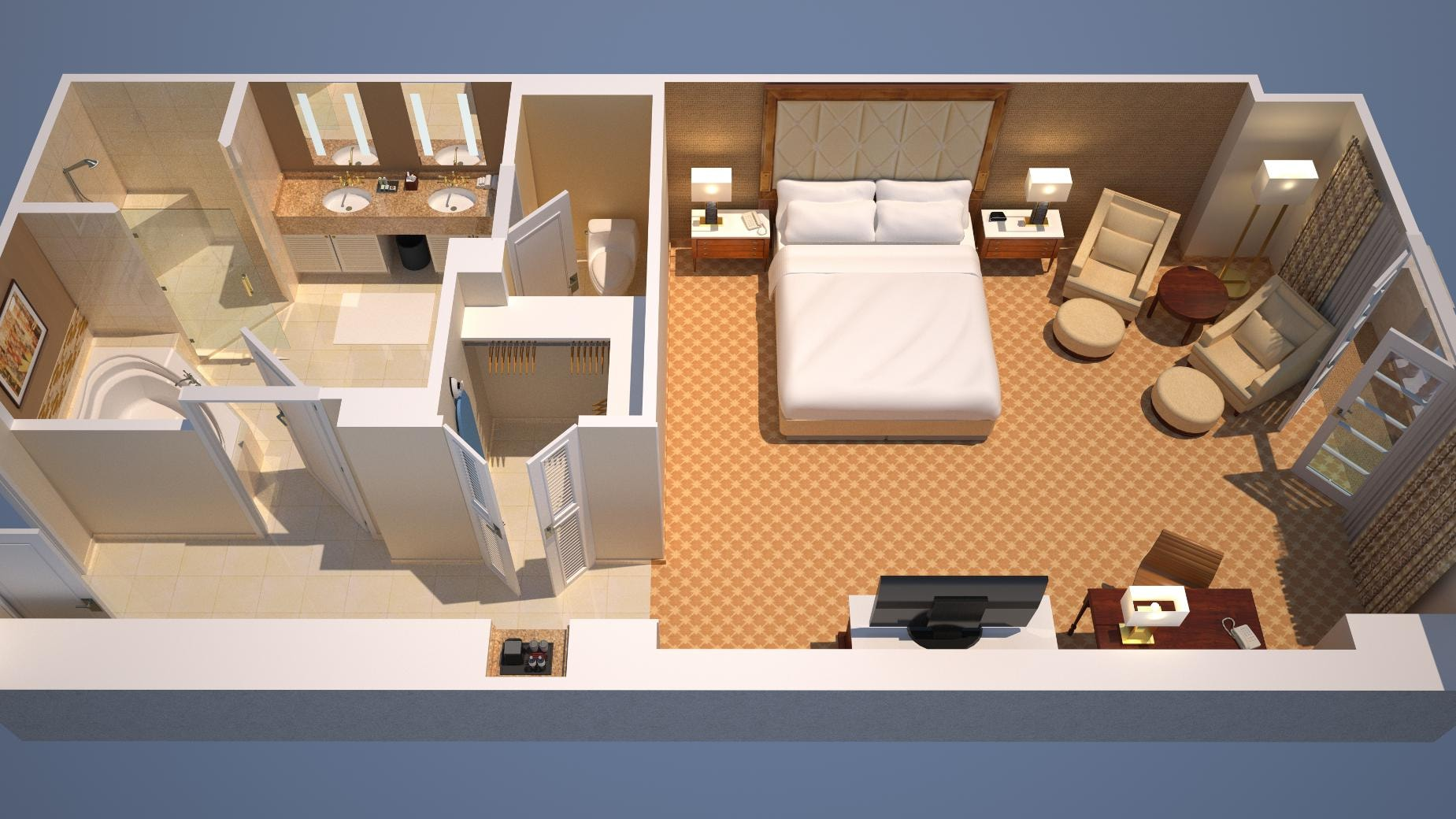 King bed floor plan