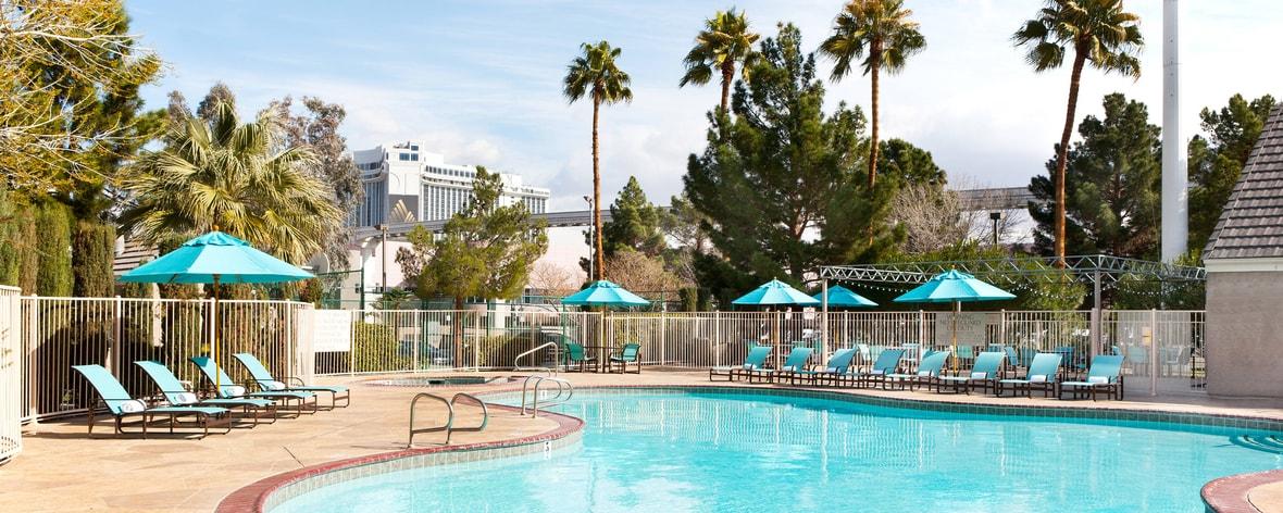 Piscine de l'hôtel à Las Vegas