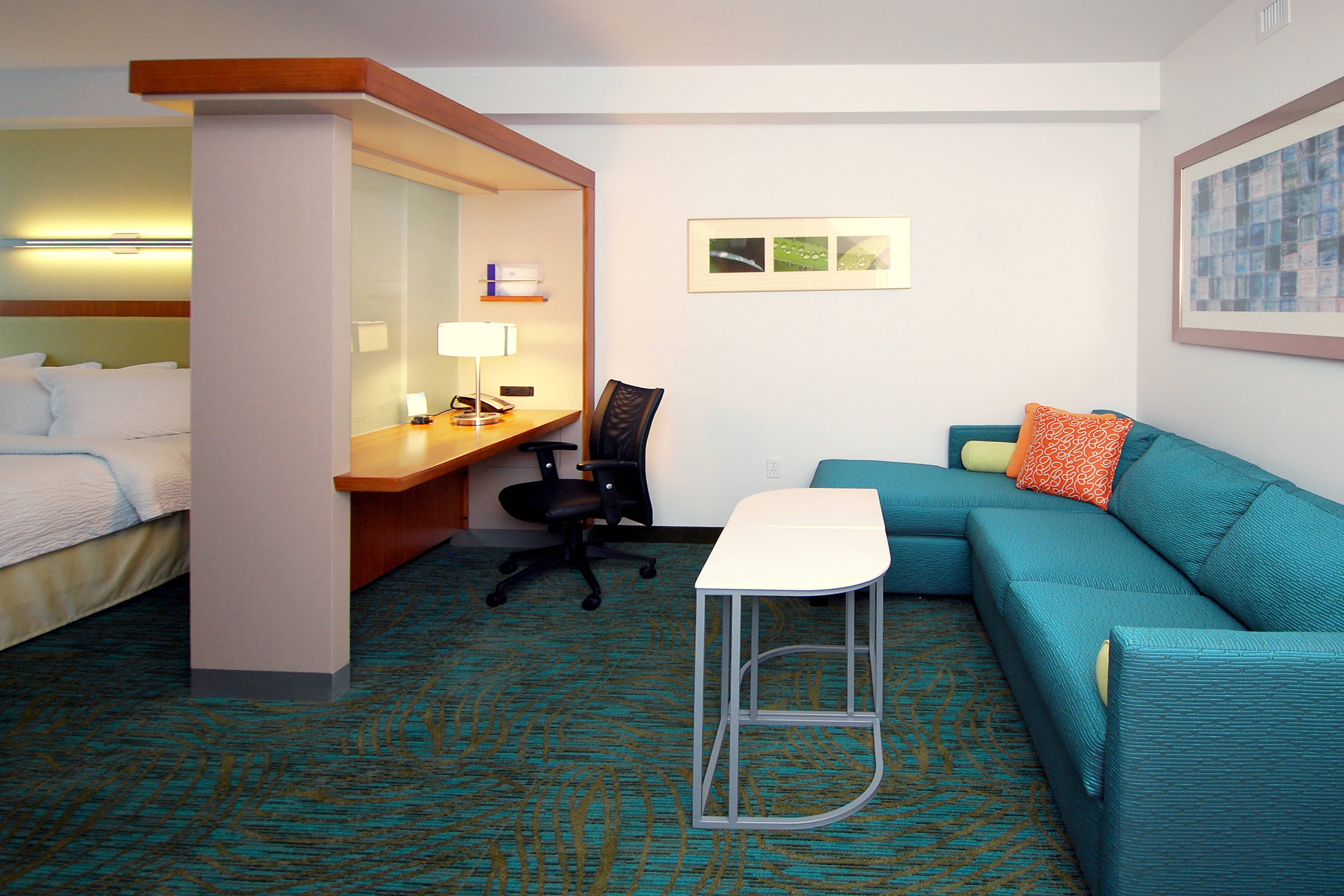 Suite Living & Work Area