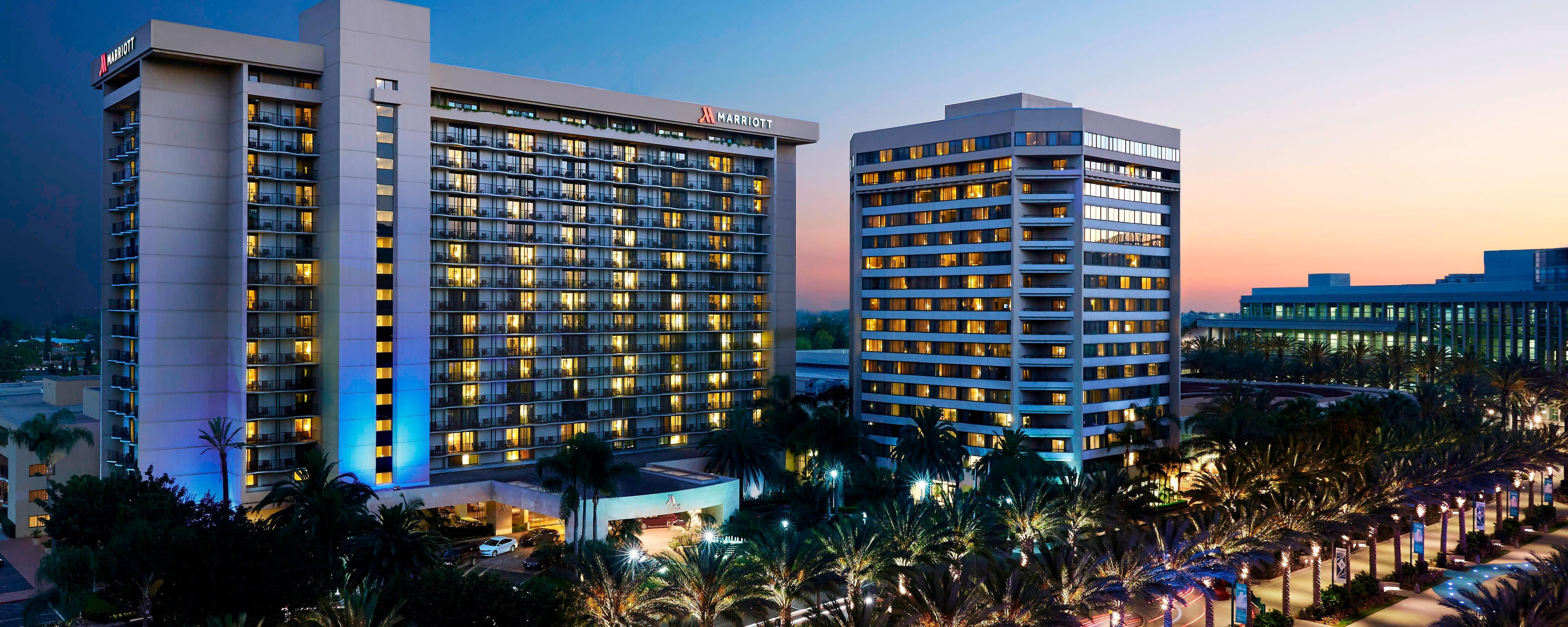 Anaheim Marriott no fim da tarde