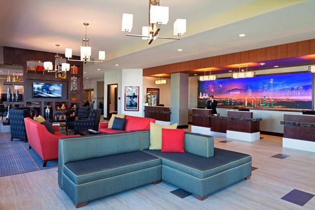 Hotel lobby LAX