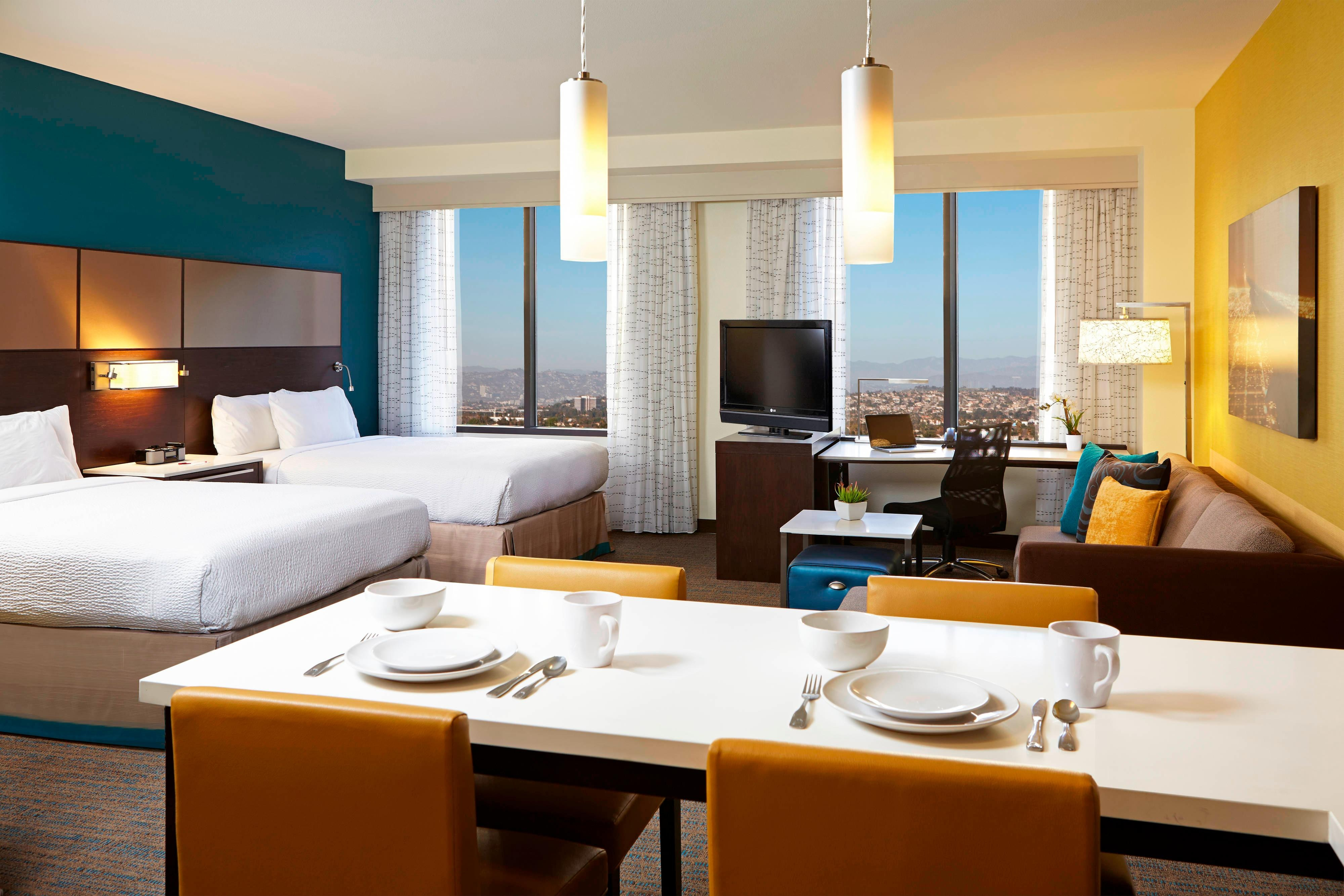 residence inn by marriott los angeles lax guest suites. Black Bedroom Furniture Sets. Home Design Ideas