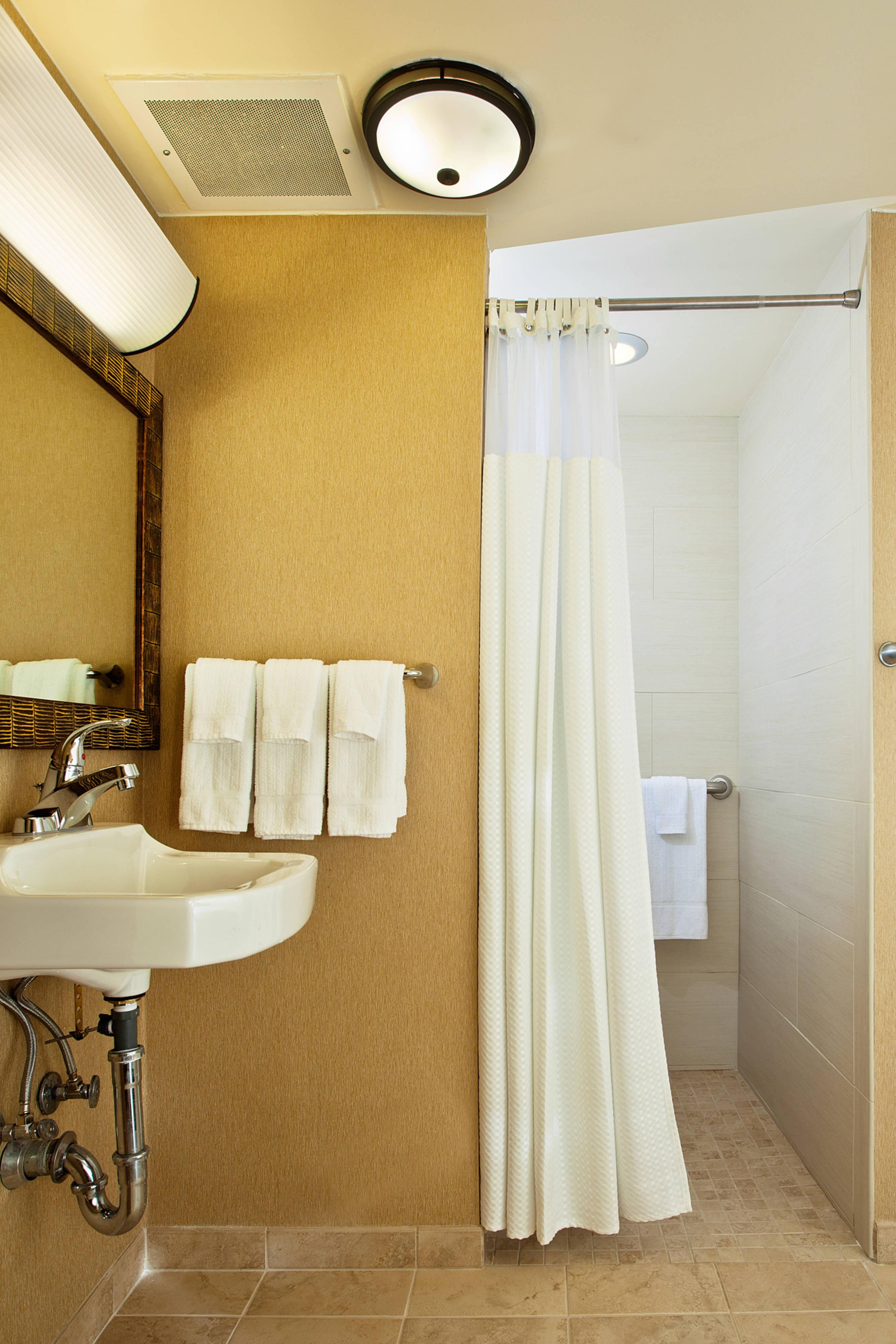 Banheiro para deficientes - chuveiro para cadeira de rodas