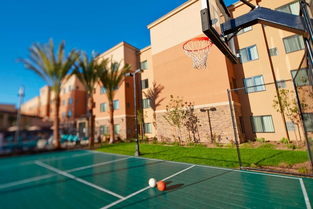 Basketball court outdoor recreation