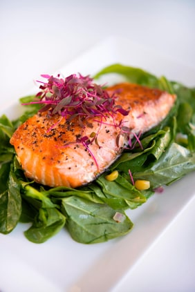 FLOE Lounge – Honey Glazed Salmon