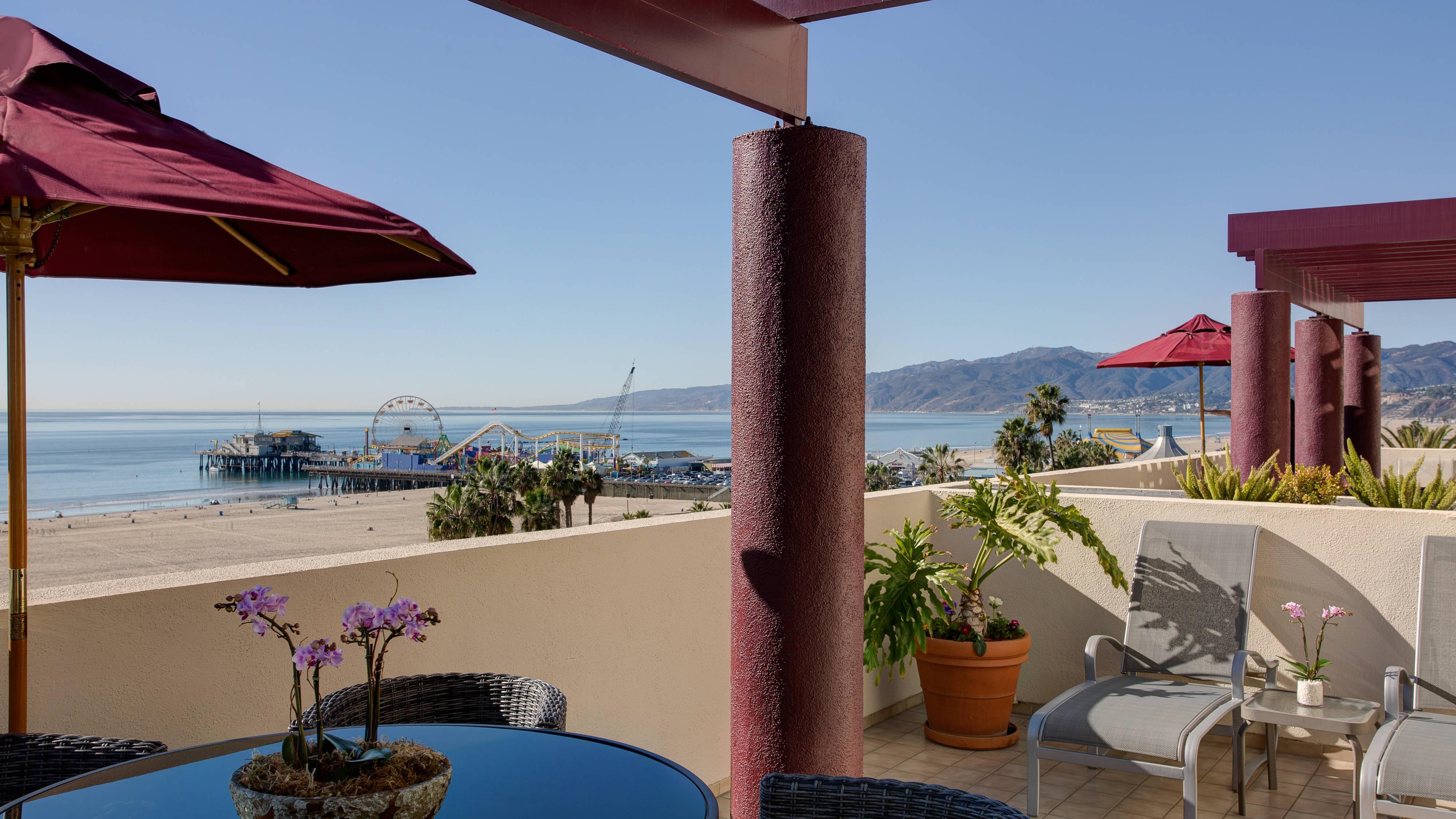 Santa Monica Pier hotel room